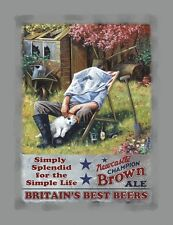 Newcastle Brown Ale Hard Day in the Garden, Drink Classic, Quality Fridge Magnet