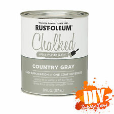 Rust-Oleum Chalked (Country Grey) Matt Chalk Paint 887ml Shabby Shic Furniture