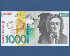 SLOWENIEN / SLOVENIA 1000 Tolarjev 2001  UNC  P. 26