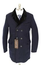 GIMOS GMS-75 Navy Wool Elbow Patch Unconstructed DB Field Coat Jacket XL NWT