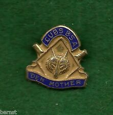 SCARCE WWII ERA PRE 1945 CUBS BSA - NOT CUB SCOUTS - STERLING DEN MOTHER'S PIN