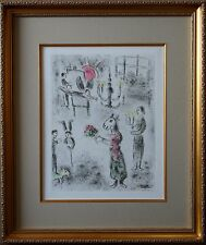 Marc Chagall - Plate from Celui qui dit les choses, Original Etching w/ Aquatint