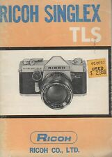 Ricoh Singlex TLS Original Instruction Manual User Guide