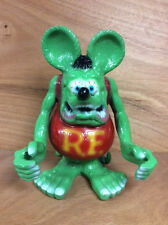 "Rat Fink Statue Heavy Cast Aluminum Man Cave Tattoo Rat Rod ~ 11"" H x 9"" W F/Sh."