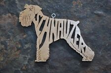 Adorable Schnauzer  Wood Toy Dog Christmas Ornaments Gift Tag