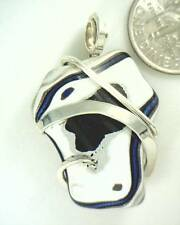 22.70ct Fancy Fordite Pendant in Sterling Silver Hand Forged Wire Wrap