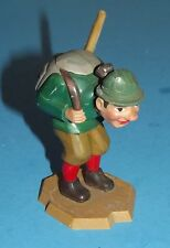 """Little Hiking Man with Bobbing Head Art Made in West Germany 4"""" tall Vintage"""