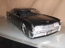 Toy Diecast Car Jada / Dub 1:24 1963 Black Lincoln Continental