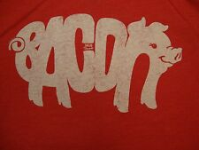 Solo Threads Bacon Pig funny delicious meat piglet soft thin Red T Shirt M