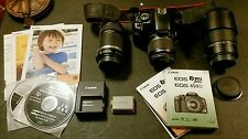 Canon EOS Rebel XSi 450D Digital Camera 12.2 MP w 3 Lenses Charger Software +