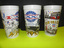 NFL-SUPER BOWL XX-20 SUPERDOME CHICAGO BEARS-N.E. PATRIOTS HELMITS LARGE CUP
