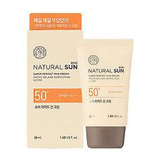 2016 Upgrade THE FACE SHOP Super Perfect Sun Cream Natural Sun Eco SPF50+ PA+++