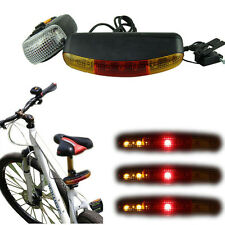 3in1 7 LED Bicycle Bike Turn Signal Directional Brake Light Tail Lamp With Horn