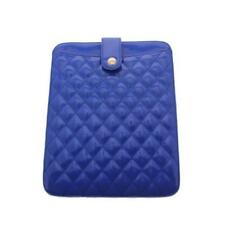 URBAN EXPRESSIONS ~ NEW $58 BLUE PATENT LEATHER QUILTED TABLET IPAD CASE ~ NWT