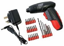 PRO 24PC 4.8V ELECTRIC RECHARGEABLE BATTERY CORDLESS SCREWDRIVER DRILL SET BITS
