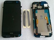 LCD Touchscreen Display Digitizer Komplett Glas mit Rahmen Schwarz HTC ONE M8