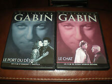 LOT 2 DVD FILMS AVEC JEAN GABIN COLLECTION ATLAS - LE CHAT + LE PORT DU DESIR