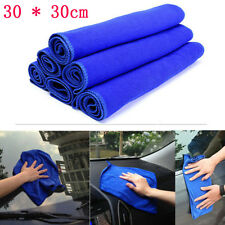 3PC 30* 30cm Blue Absorbent Wash Cloth Car Auto Care Microfiber Cleaning Towel