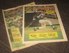 1973/74 Atlanta Braves Lot of 2 - The Sporting News Magazine - No Labels