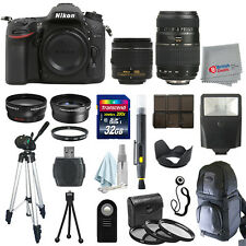 Nikon D7100 Digial SLR Camera 4 Lens 18-55mm VR + 70-300 + 32GB All You Need Kit