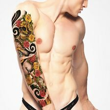 Full Arm Tattoo XXL Fake Tattoo Scull Roses&Guns 44,5x15,5cm QB-3004