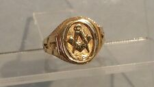 9ct gold masonic ring
