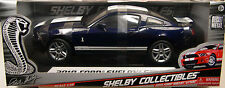 SHELBY COLLECTIBLES 1:18 SCALE DIECAST METAL DARK BLUE 2010 SHELBY GT500 MUSTANG