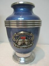 Trucker Adult Metal Cremation Urn- with 2 Options of Free Engraving
