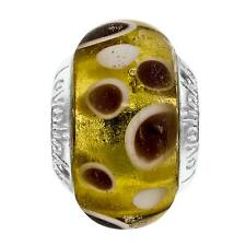 Lovelinks Dots Yellow Bead New Genuine Murano Glass Sterling Silver 11821675-99