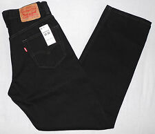 New LEVI'S 550 MEN'S RELAXED FIT JEANS W31 L32 BLACK 31X32