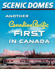 """Canadian Pacific """"Scenic Domes"""" Train Metal Sign"""