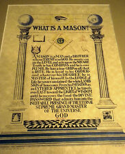 Masonic What is a Mason? color art print poster Freemasonry ring