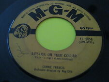 Rare Japan Press Pop 45: Connie Francis on MGM - Lipstick On Your Collar