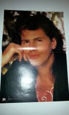 Duran Duran John Taylor in a red tee Centerfold magazine POSTER  17x11 inches