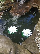 3 x   Artificial Lotus Lily Pads, Cream  Floating Silk Lily Pad  - 17cm x 15cm.