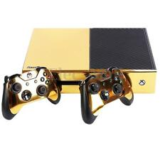 Gold Glossy Vinyl Decal Skin Stickers Cover for Xbox One S Console&2 Controllers
