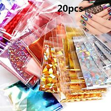 20Pcs Foils Finger DIY Nail Art Sticker Decal Water Transfer Stickers Tip Decors