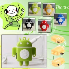 Blue 32GB 100% NEW Android Robot Design MP3 Music Player Card SD High Quality