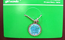 NECKLACE Girl Scout Charm IT'S YOUR STORY-TELL IT Retired GIFT Multi-1 Ship