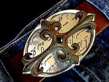 Used Kreuz Mittelalter Lilie Kelten Gürtelschnalle Wechselschnalle Buckle 4cm