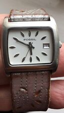 LADIES FOSSIL JR-9110 LEATHER STRAP WATCH