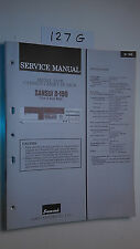 Sansui d-190 service manual original repair book stereo tape deck player
