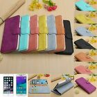 Genuine Leather Flip Wallet Card Stand Case Cover For iPhone 6/6 Plus/Samsung S6
