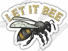 "Let It Bee Wasp Yellow Hornet Insect Car Bumper Window Vinyl Sticker Decal 5""X4"""
