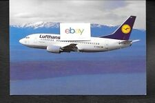 LUFTHANSA GERMAN AIRLINES  BOEING 737-500 #D-ABIH AIRLINE ISSUE POSTCARD