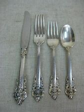 Vtg Sterling Silver Wallace Grande Baroque Four-Piece Place Setting