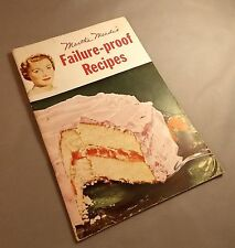 Martha Meades Failure Proof Recipes Vintage Booklet 32 pages