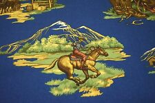 "ROBERT ALLEN OLD WEST NAVY DESIGNER HOME DECOR FABRIC 54""W SOLD BY THE YARD"