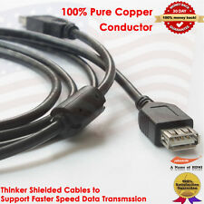 Hi-Speed USB 2.0 Cable Type A Male to Type A Female Extention Cord - 10FT/3.0M