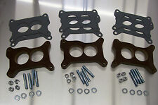 Tri Power Holley Phenolic Insulator Spacer Chevy Six Pack Riser 67-69 Vette 1/2""